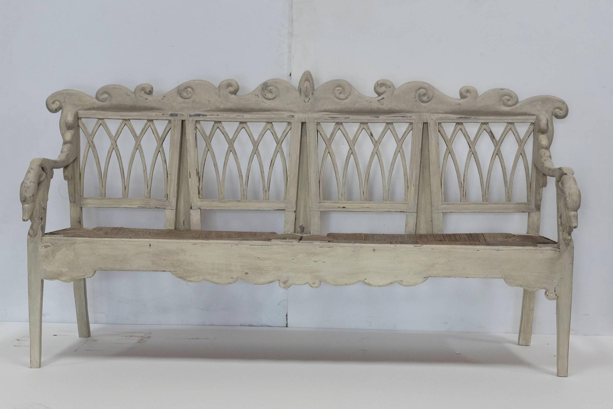 Sensational Gustavian Carved Swan Bench For Sale At 1Stdibs Creativecarmelina Interior Chair Design Creativecarmelinacom