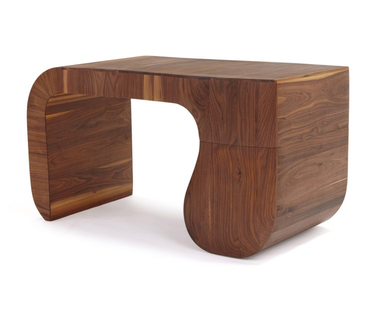 Modern Contemporary 'Opener' desk in American black walnut. No4 of 5 edition in stock. For Sale