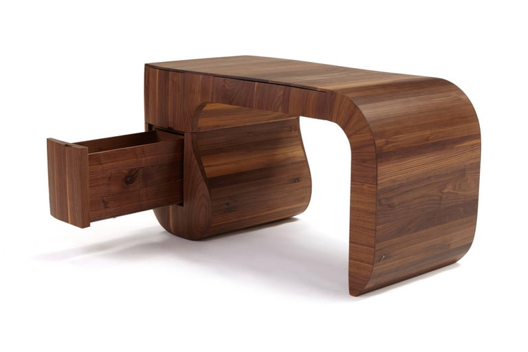 English Contemporary 'Opener' desk in American black walnut. No4 of 5 edition in stock. For Sale