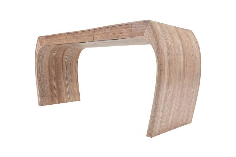 Ash Desk, Steam Bent with Ebony Grain and White Oil Finish 4