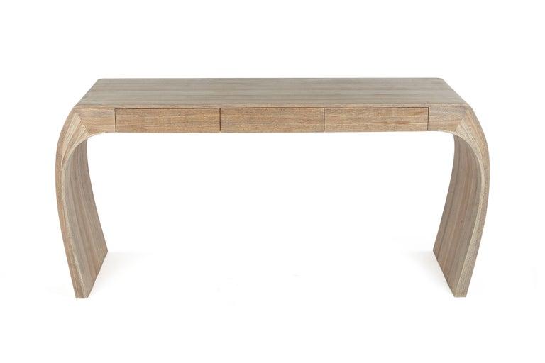 Ash Desk, Steam Bent with Ebony Grain and White Oil Finish 8