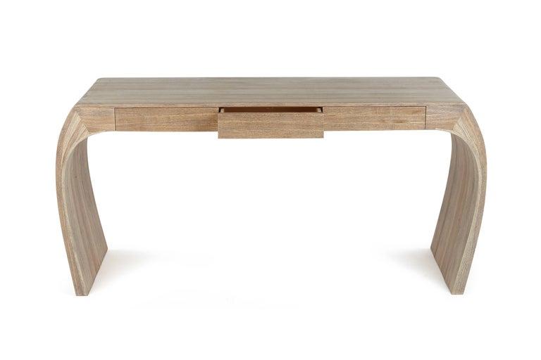Ash Desk, Steam Bent with Ebony Grain and White Oil Finish 9