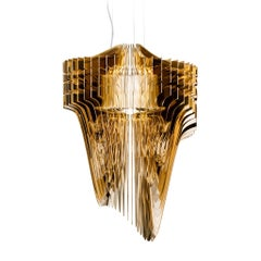 Aria Gold Suspension Lamp by Zaha Hadid for Slamp 'Small'