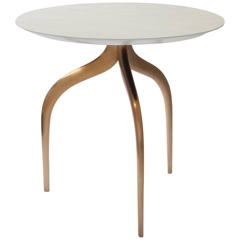 Large Bronze Sea Table with Shell Top by Giovanna Ticciati