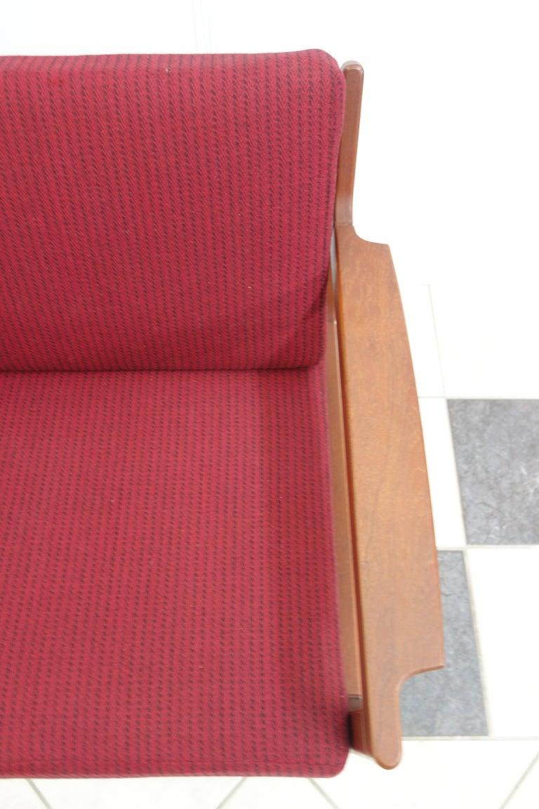 Pair of Danish Teak Easy Chairs in Arne Wahl Iversen Style, Reupholstered 7