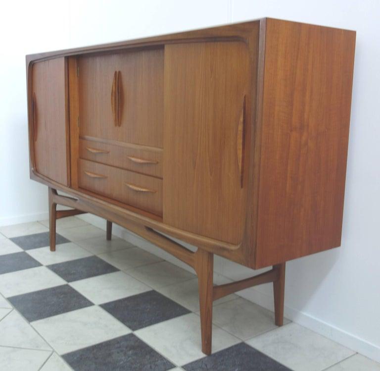 Sideboard Und Highboard ~ Danish mid century teak highboard sideboard for sale at