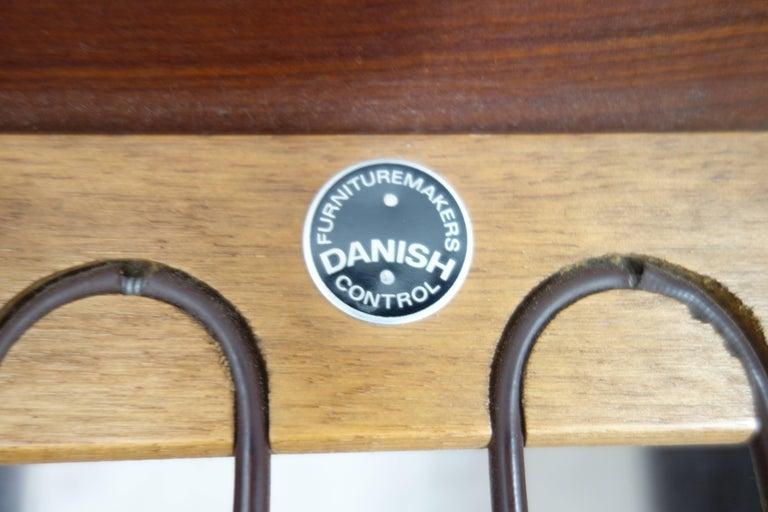 Pair of Danish Teak Easy Chairs in Arne Wahl Iversen Style, Reupholstered 10
