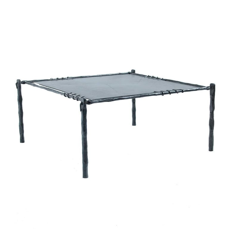Hand forged wrought iron coffee or side table in two sizes