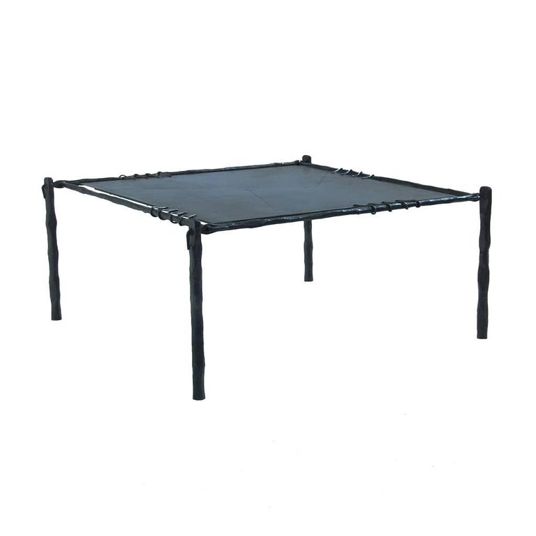 Hand forged wrought iron coffee table end side