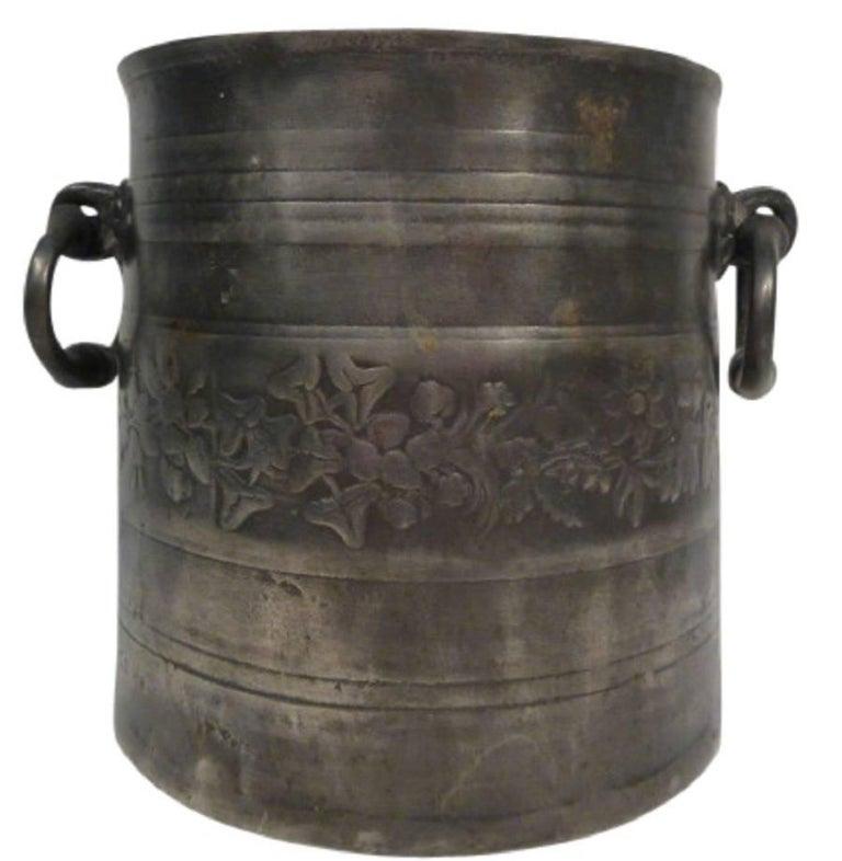 Antique German Tin Cooler Pot 1