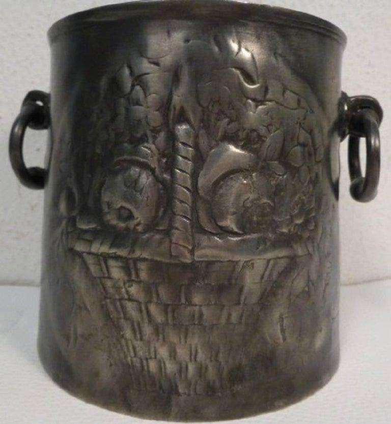 Antique German Tin Cooler Pot 3
