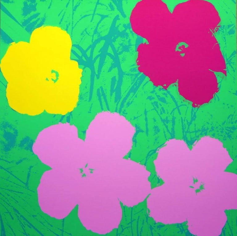"""Andy Warhol """"Flowers"""" Silkscreen Print In Excellent Condition For Sale In West Hollywood, CA"""
