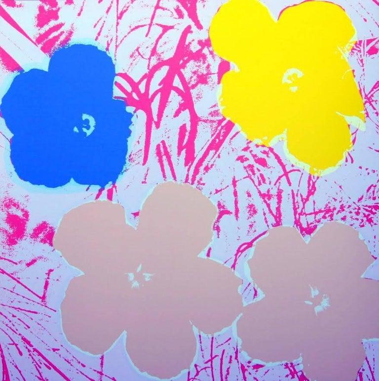 "Andy Warhol ""Flowers"" Silkscreen Print For Sale 1"