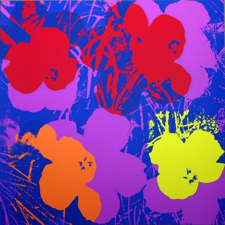"Modern Andy Warhol ""Flowers"" Silkscreen Print For Sale"