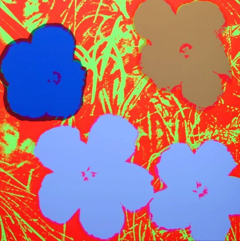 """Contemporary Andy Warhol """"Flowers"""" Silkscreen Print For Sale"""