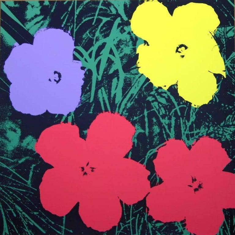 "Andy Warhol ""Flowers"" Silkscreen Print For Sale 4"