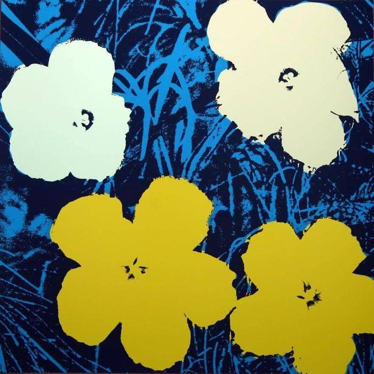 "Andy Warhol ""Flowers"" Silkscreen Print For Sale 3"