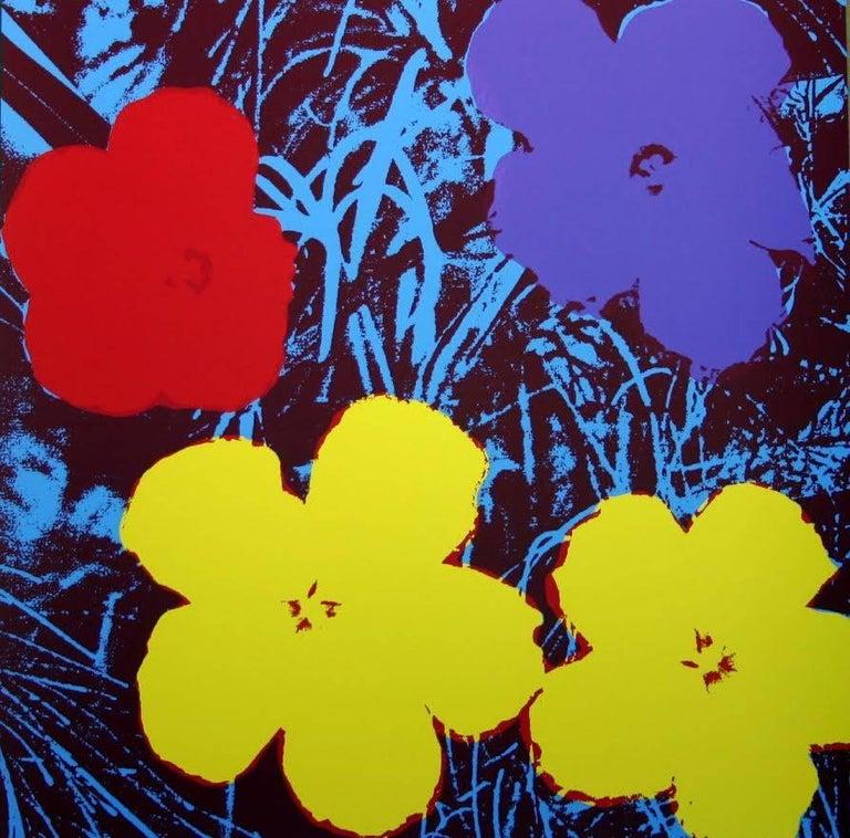 "Andy Warhol ""Flowers"" Silkscreen Print For Sale 2"
