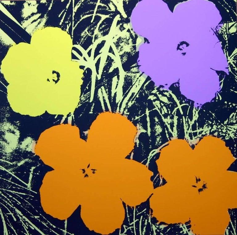 "North American Andy Warhol ""Flowers"" Silkscreen Print For Sale"