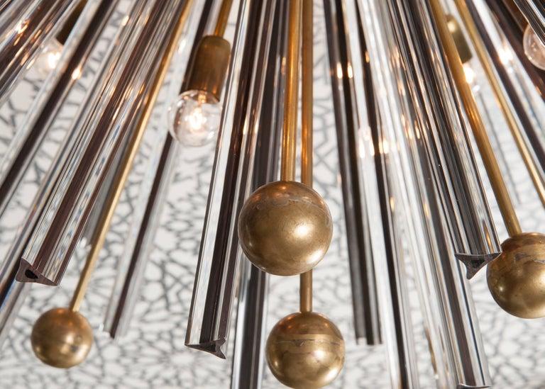 Triedri Brass Sputnik Flush Mount Chandelier For Sale 1