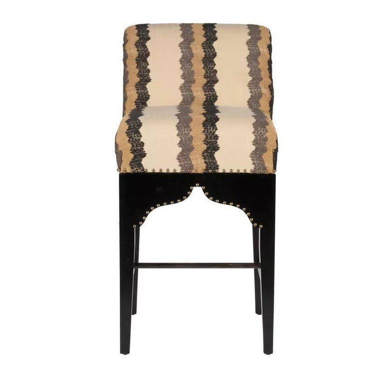 Martyn Lawrence Bullard's custom souk barstool. Inspired by the legendary bar scene in Casablanca, these stools are both exotic and very comfortable.