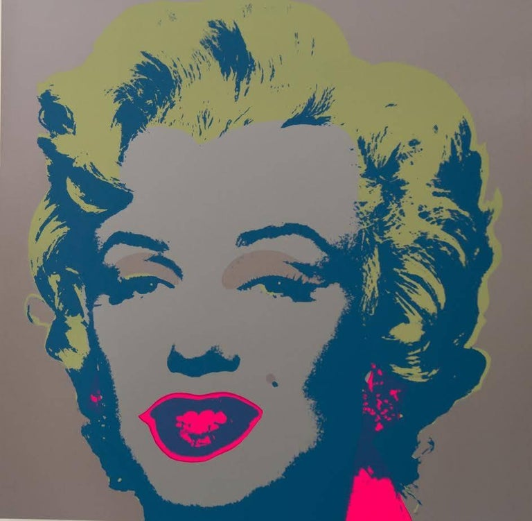 "Andy Warhol ""Marilyn Monroe"" Silkscreen Print  In Excellent Condition For Sale In West Hollywood, CA"