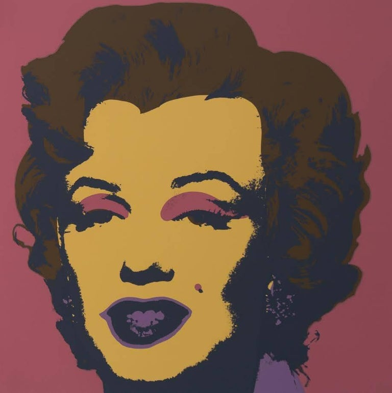 "Contemporary Andy Warhol ""Marilyn Monroe"" Silkscreen Print  For Sale"