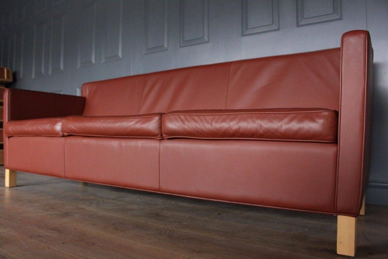 Designer Knoll Studio Krefeld Suite Sofa and Armchairs by Mies Van Der Rohe For Sale at 1stdibs
