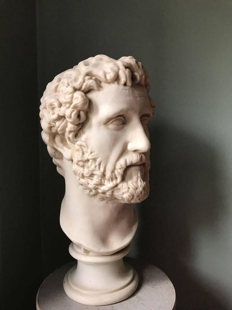 Plaster Bust Of Roman Emperor Antoninus Pius Made In