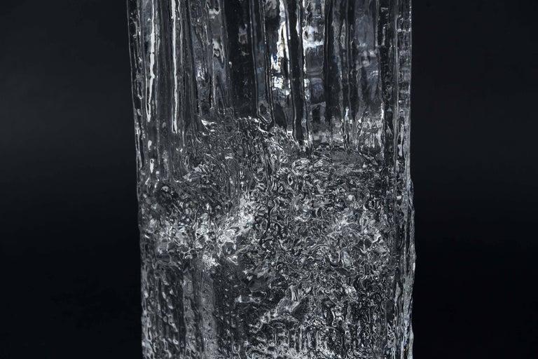 Mid-Century Modern Tapio Wirkkala for Iittala Ice Glass Vase For Sale