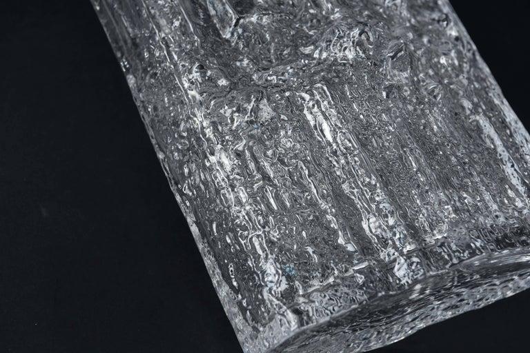 Tapio Wirkkala for Iittala Ice Glass Vase For Sale 1