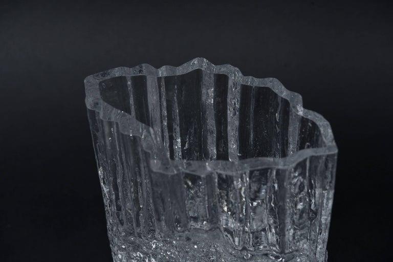 Finnish Tapio Wirkkala for Iittala Ice Glass Vase For Sale
