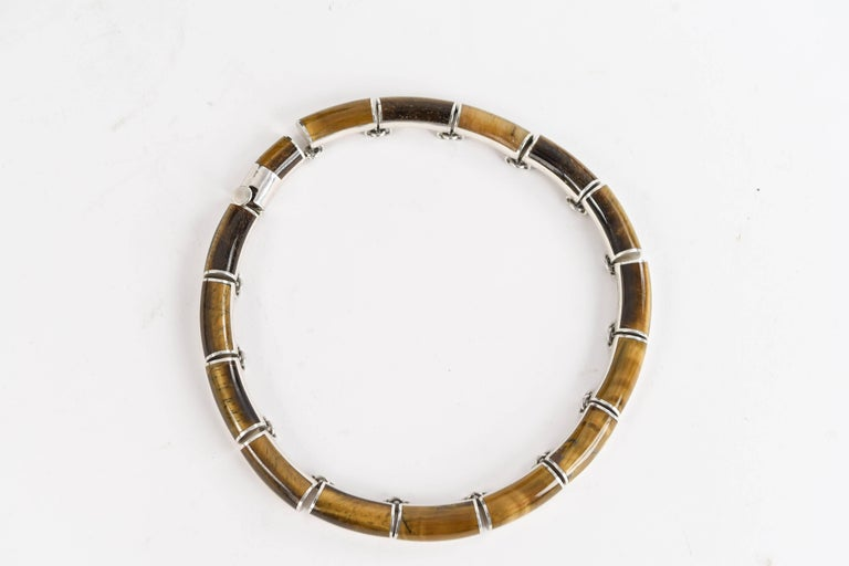 Mexican Sterling Silver and Tigers Eye Jewelry Set For Sale 5