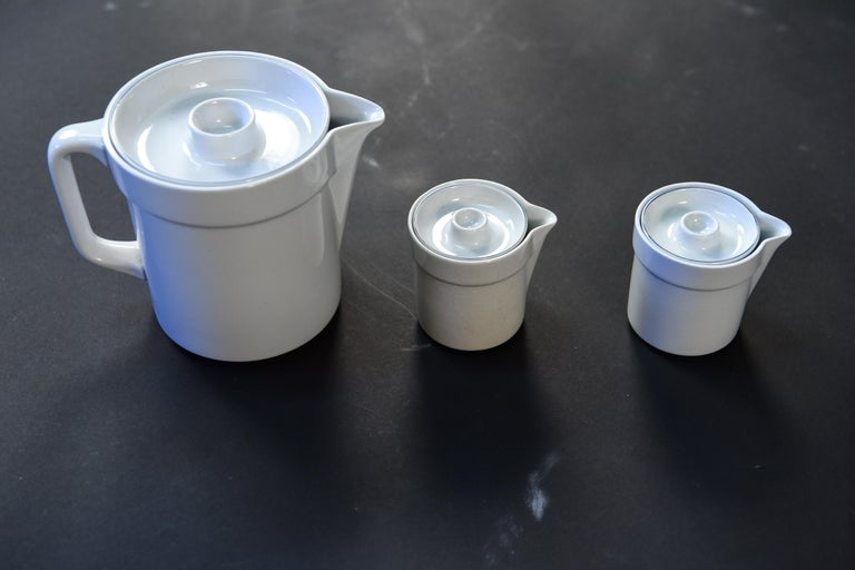 Grethe Meyer Blue Line Faiance Aluminia Service for Eight For Sale 5