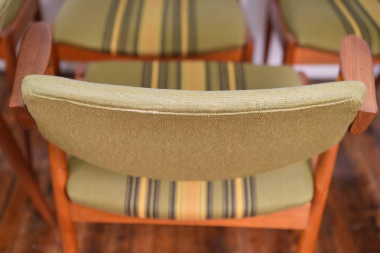Set of Six Kai Kristiansen Model 42 Z Teak Dining Chairs For Sale 1