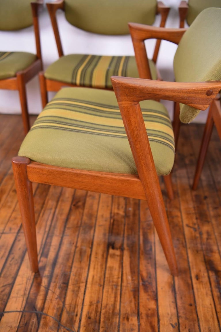 Set of Six Kai Kristiansen Model 42 Z Teak Dining Chairs For Sale 2