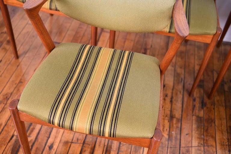Set of Six Kai Kristiansen Model 42 Z Teak Dining Chairs For Sale 3