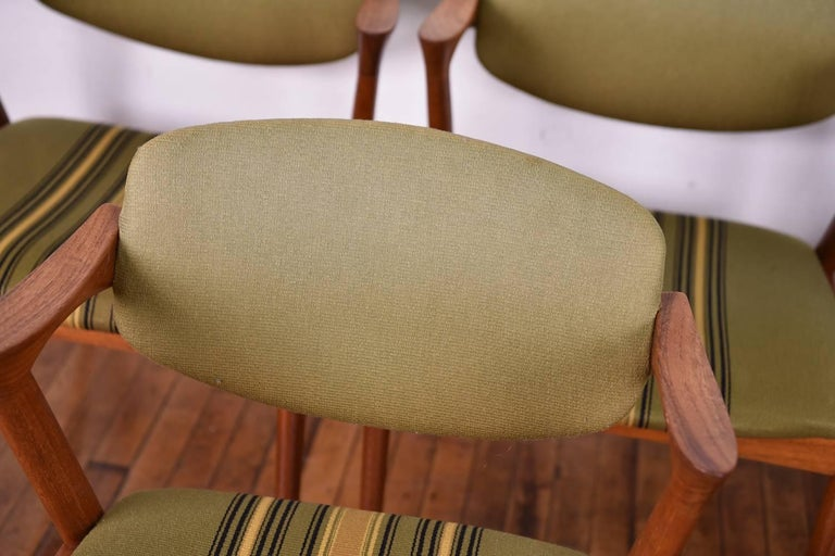 Set of Six Kai Kristiansen Model 42 Z Teak Dining Chairs For Sale 4