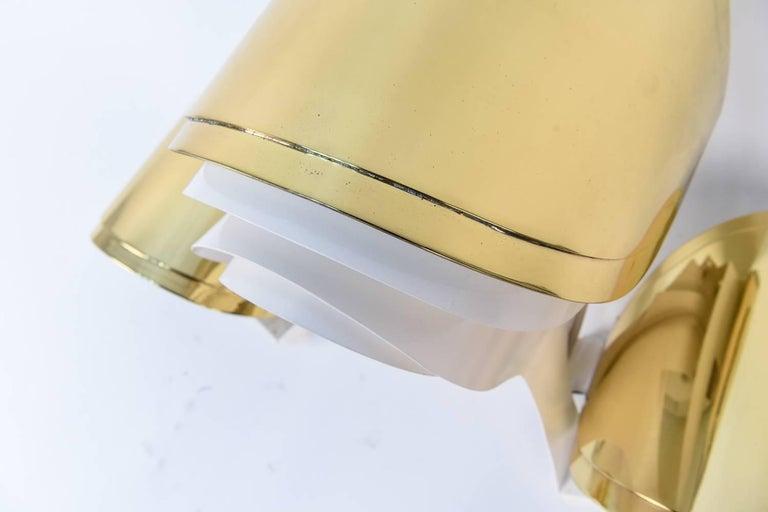 Warren Platner Custom Brass Triple Corner Sconce In Excellent Condition For Sale In Norwalk, CT