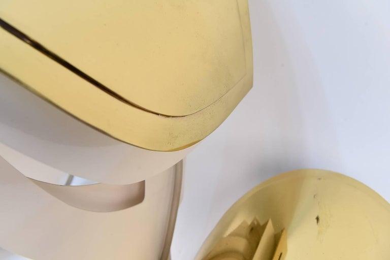 Warren Platner Custom Brass Triple Corner Sconce For Sale 1