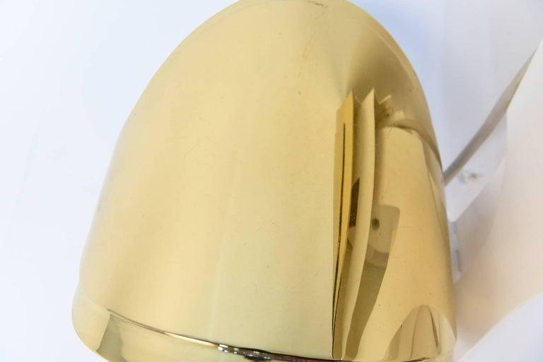 Warren Platner Custom Brass Triple Corner Sconce For Sale 2