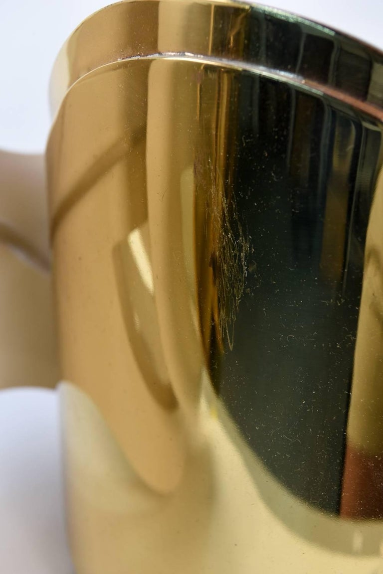 Warren Platner Custom Brass Triple Corner Sconce For Sale 4
