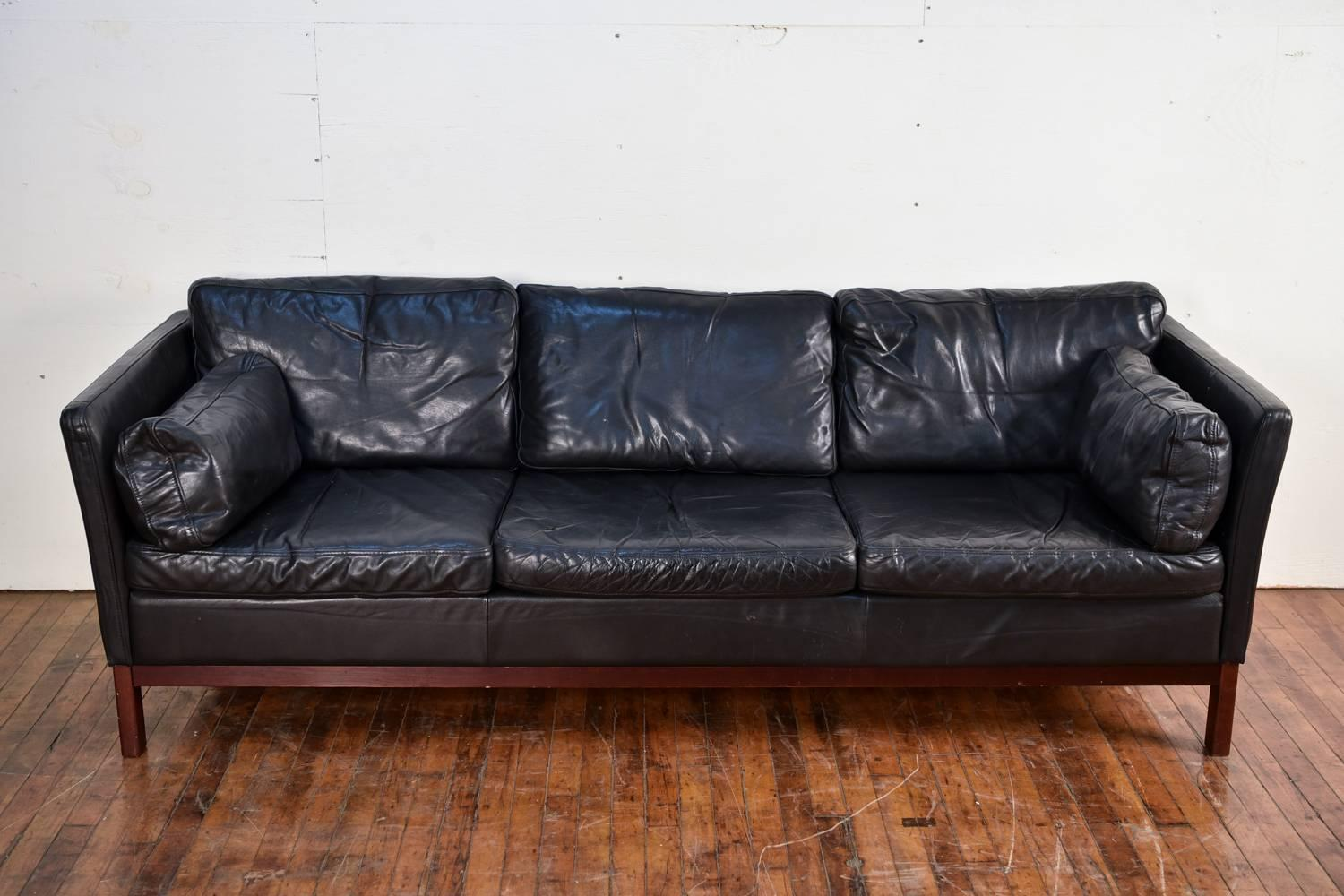 This Danish Midcentury Three Seat Sofa Was Designed By Mogens Hansen In The  1960s And