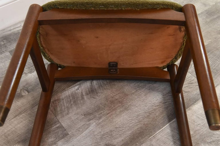 Teak Pair of Danish Midcentury Stools or Ottomans For Sale