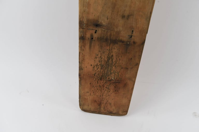Early Victorian Antique Undertakers Coffin Back Board For Sale