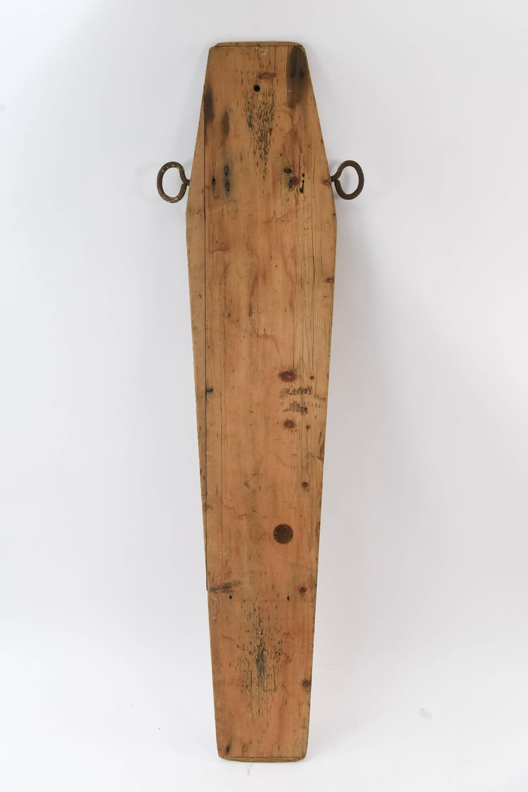 A very unique and original piece, this dates tot the 19th C. and was used by the undertaker to display and work on the attached person.