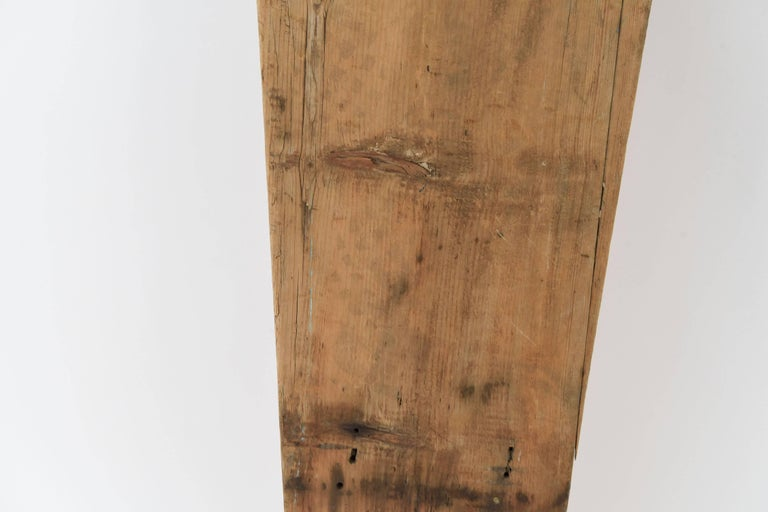 American Antique Undertakers Coffin Back Board For Sale