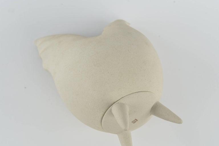 Lineasette Italian Ceramic Chicken Vase For Sale 5