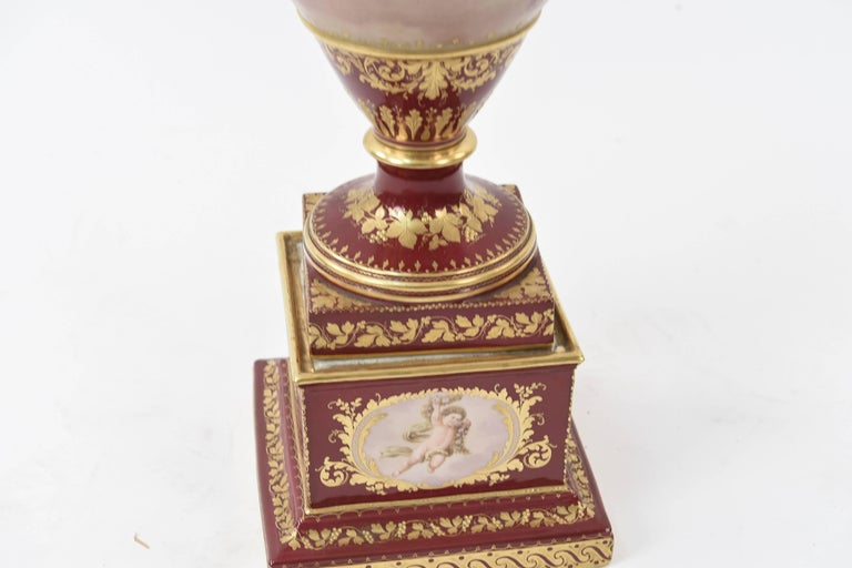 Royal Vienna Scenic Painted Lidded Urn For Sale 1