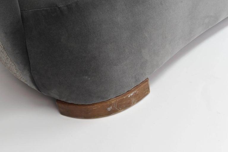 Danish 1940s Art Deco Banana Sofa For Sale 3
